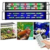 KZKR Upgraded Aquarium Light 24-32 inch Remote Control Multi-Color LED Hood Lamp Dimmable Timing for Freshwater Marine Plant Fish Tank Light Decorations