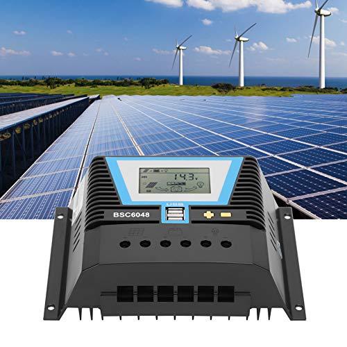 Controlador de carga solar, controlador solar inteligente estable para fosfato de hierro y litio para baterías de gel para plomo-ácido líquido para baterías de litio ternarias