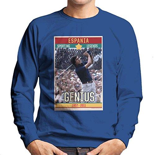 Sporting Legends Poster Espania Seve Ballesteros Genius British Open Golf 1972 Men's Sweatshirt