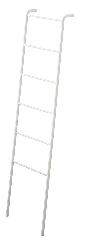 歌破壊的形成山崎実業 タオルハンガー バスタオルハンガー ランドリー 立て掛け 梯子型 ラダーハンガー プレート ホワイト 3969