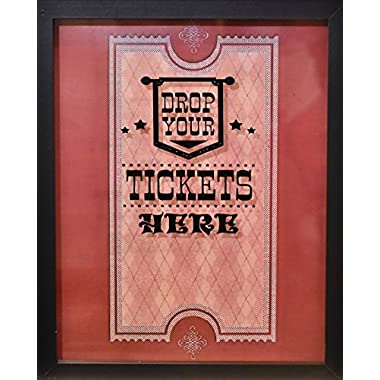 XL 15 X12  - Ticket Shadow Box - Memento Frame - Large Slot on Top of Frame - Memory Box Storage for Any Size Tickets. Best for Storing Concert Movie Theater & Sporting Event Ticket Stubs