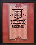 XL 15'X12' - Ticket Shadow Box - Memento Frame - Large Slot on Top of Frame - Memory Box Storage for Any Size Tickets. Best for Storing Concert Movie Theater & Sporting Event Ticket Stubs