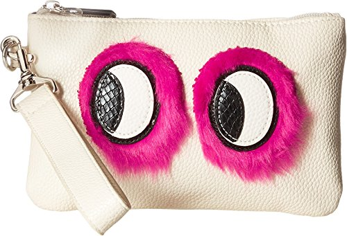 Circus by Sam Edelman Rachael Wristlet w/Eye Applique Ivory One Size