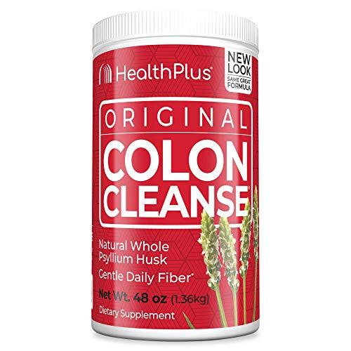Health Plus Colon Cleanse - Natural Daily Fiber - Gluten Free, Detox, Heart Healthy (48 Ounces, 194 Servings)