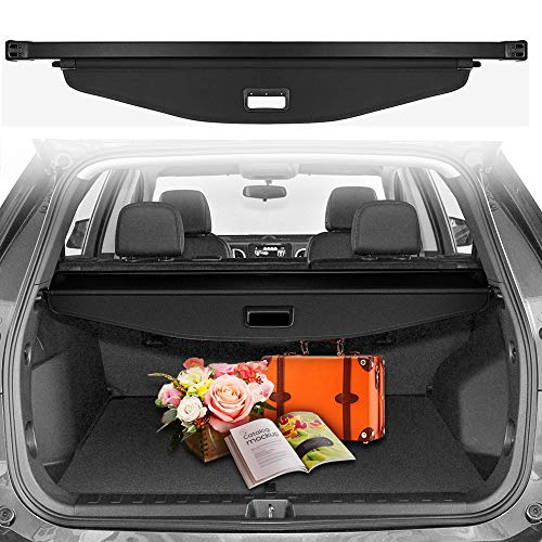 CUMART Cargo Cover Compatible with Chevrolet Chevy Equinox 2018 2019 Retractable Rear Trunk Security Shield Luggage Shade Black