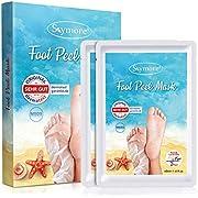 Skymore 2 Paar Fußmaske, Hornhaut Entfernung Fuß Peeling Maske Exfoliating Fussmaske für zarte Füße, Fuß Hornhautentferner Peeling Socken