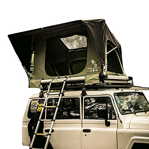 Ranger Overland Rooftop Tent Waterproof Quick Open 2 Adult Carrying Case Easy To Set Camping And Travel