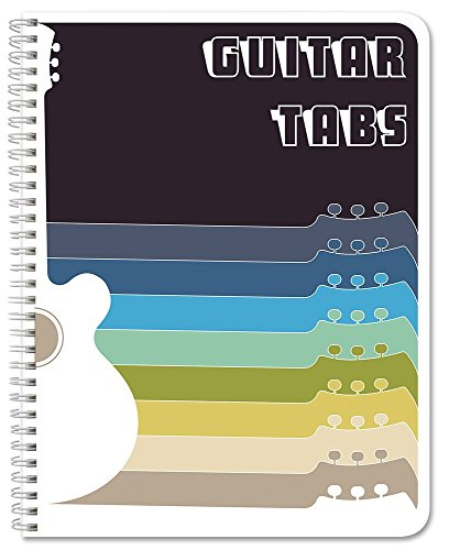 "BookFactory Guitar Tablature Notebook/Guitar Music Tabs Journal - 120 Pages, Wire-O, 8 1/2 x 11"" Tablature Format (JOU-120-7CW-A(Guitar-Tabs))"