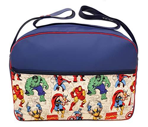 Organizzatore o borsa di grandi dimensioni per passeggino o carrozzina. Vari modelli e colori disponibili (Marvel Marino)