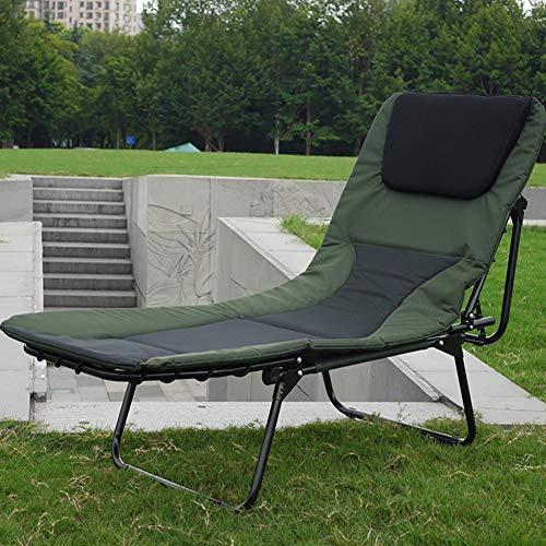 Klappbarer 6-Bein-Liegestuhl Mit Kissenbettstuhl Angeln Camping Büro Mittagspause