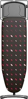 Table à repasser Plusboard Lips, 42cm x 125cm, 100% coton, Idéale pour Centrales Vapeur, Hauteur Réglable, Repose-fer, Sys...