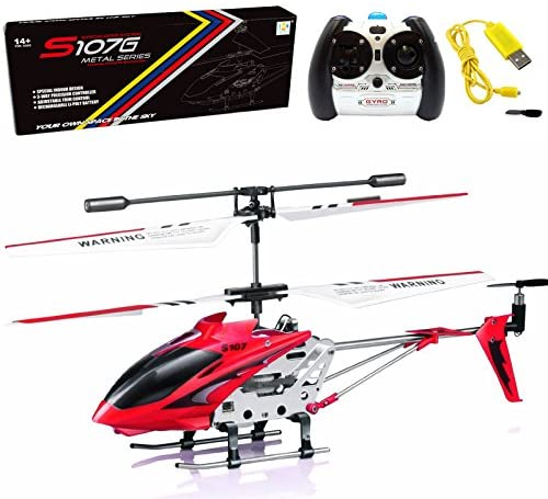 Cheerwing S107/S107G Phantom 3CH 3.5 Channel Mini RC Helicopter with Gyro Blue