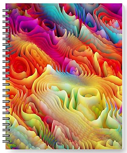 DianPrints Diario de arte moderno en espiral, cuadernos de 170 páginas, 80 g/m² para oficina, escuela, universidad, hogar