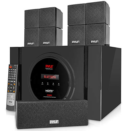 5.1 Channel Home Theater Speaker System - 300W Bluetooth Surround Sound Audio Stereo Power Receiver...