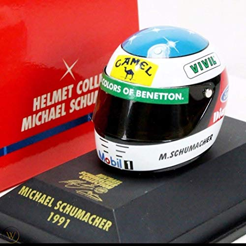 MS Collection Michael Schumacher Replika Helm Camel Benetton F1 1991, Minichamps 1:8