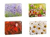 TSI 84413 Geschenkbeutel Blumenmix, 12er Packung, Größe: Shopper (29 x 38 x 10 cm)