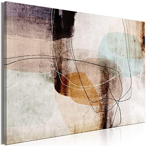 murando Quadro Motivo geometrico 90x60 cm Stampa su tela in TNT XXL Immagini moderni Murale Fotografia Grafica Decorazione da parete 1 pezzo Astratto colorato come dipinto a-A-0756-b-a
