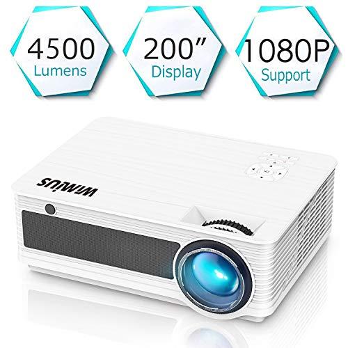Proyectores, WiMiUS Video Proyector 4000 Lúmenes Soporta Full HD ...