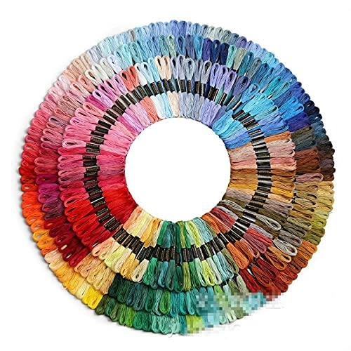 Aiong Hilo de Bordar, 150/200 hebras de Hilo de Punto de Cruz de Color arcoíris, para Bordar, Adecuado para Amantes del Punto de Cruz