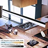 Lámpara colgante LED CBJKTX lámpara colgante mesa de comedor 24W lámpara de oficina regulable con control remoto lámpara colgante lámpara de trabajo para oficina mesa de comedor cafetería restaurante