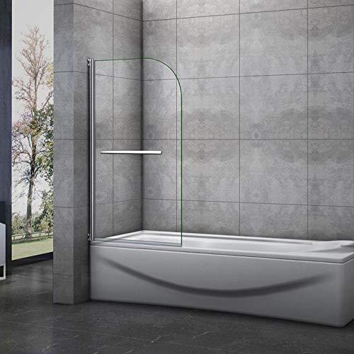Mampara de bañera Abatible Simple de 1 Hoja 180 grados 70x130cm