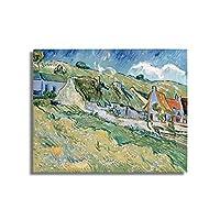 ヴァンゴッホ農家の小屋壁画キャンバス絵画アートワーク壁アートポスターとプリントリビングルームの家の装飾のための写真50x60cmフレームレス