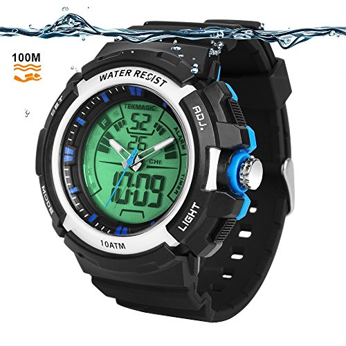 TEKMAGIC 10ATM Waterproof Digital Scuba Diving...