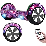 RangerBoard Hoverboard Enfant - 6,5' - Bluetooth - LED - Self Balancing Board Adulte - 700W - Smart Scooter Deux Roues - Skate Électrique Cadeaux Pas Cher - Certifié CE UL2272 - Violet Ciel Étoilé
