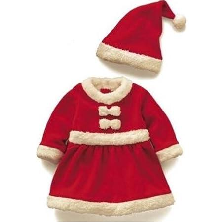 赤ちゃん 子供用 サンタ クリスマス 衣装 ベビー キッズ コスチューム (80cm, 女の子)