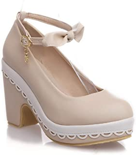 BalaMasa Womens APL12400 Pu Platform Heels
