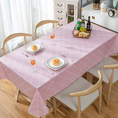 JIALIANG PVC Retro Tischdecke rechteckig wasserdicht und ölbeständig mit exquisiten Mustern für die Dekoration von Küchenhochzeitsfeiern Innen-/Außen-/Küchen-/Gartentischdecken,135x135cm