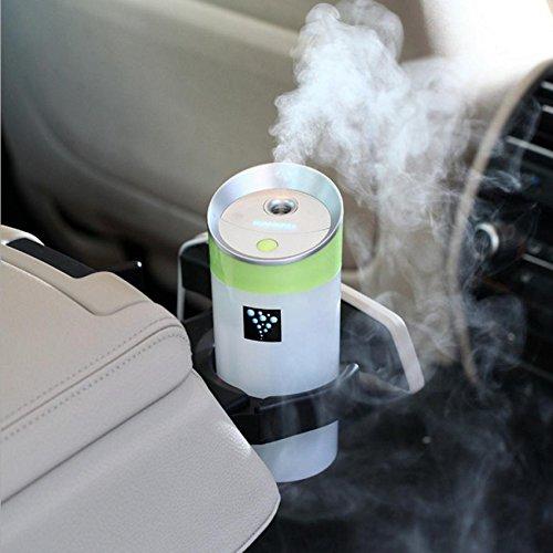 YL Anion Aroma Purificador de Aire Humidificador de Coche Nano Water Meter Hogar Mini Humidificador Usb,Verde