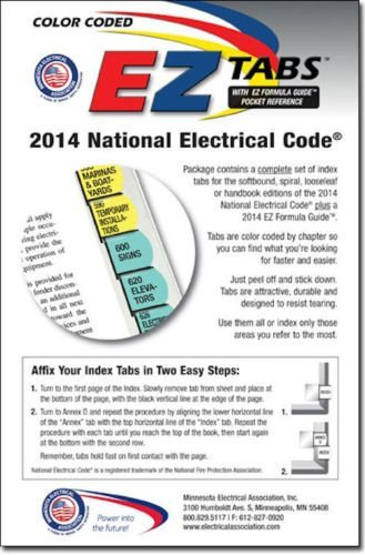 Color Coded EZ Tabs for The 2014 National Electrical Code with EZ Formula Guide