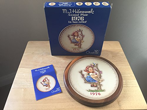 HTF--1976 Goebel Hummel Annual Plate in Original Box -- Mint Condition!!! -  W. Goebel