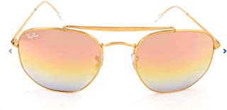 RB3648 The Marshal Square Sunglasses, Light Bronze/Gold Gradient Pink Mirror, 54 mm