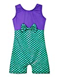 Mermaid leotards for girls gymnastics 4t 5t green purple toddlers bodysuits dance wear