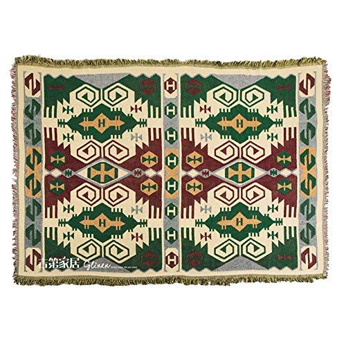 longchang Ölgemälde Wind geometrische Baumwolle Sofa Decke amerikanische alte färbung Linie Decke wert volle Abdeckung Sofa Bett Decke Handtuch, 90 * 180 cm