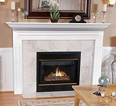 Pearl Mantels 510-48 Newport 48-Inch Fireplace Mantel Surround with Medium Density Fiberboard, White