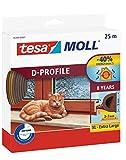 Tesa 05389–00001–00Moll–Bandas burlete para puertas y ventanas, color marrón, 25m x 9mm