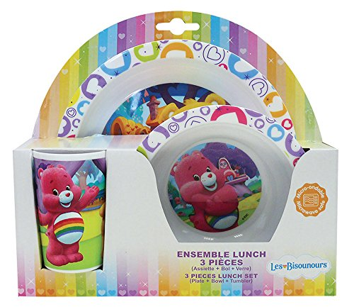 Fun House 005360 BISOUNOURS Ensemble de repas pour enfants - 3 pièces, Polypropylène, Multicolore, 26,5 x 7 x 25 cm