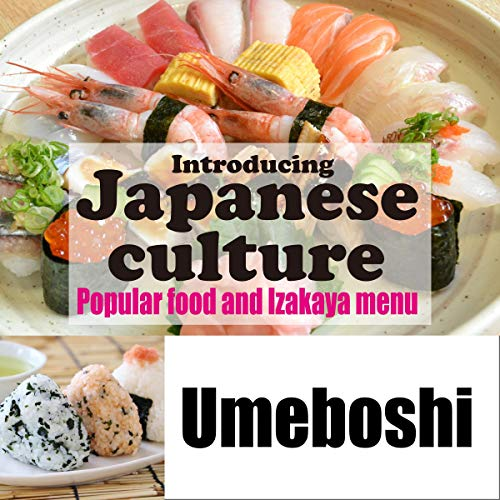 Diseño de la portada del título Introducing Japanese culture -Popular food and Izakaya menu- Umeboshi