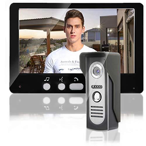 Timbre de video de 7 pulgadas, sistema de intercomunicación inalámbrico con monitores de cámara TFT, sistema de visión nocturna de intercomunicador de timbre de video(EU)