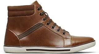 high top sneakers brown