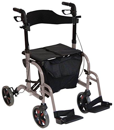 Hybrid Duo 2 in 1 Rollator wheeled walker walking frame / folding transfer...