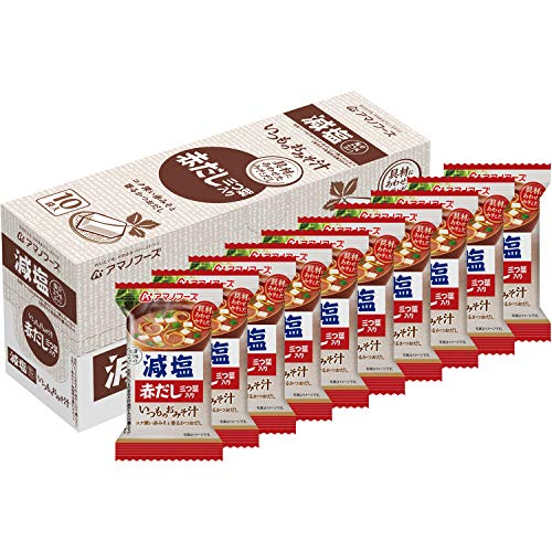 アサヒグループ食品 アマノフーズ 減塩いつものおみそ汁赤だし三つ葉 ×10袋
