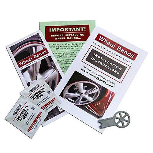 Upgrade Your Auto Wheel Bands Silver Insert in Black Track Pinstripe Rim Edge Trim