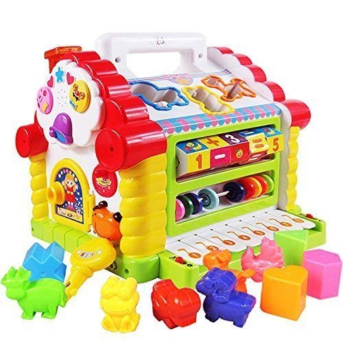 Smartcraft Colorful And Attractive Funny Cottage Educational Toy, Learning House – Baby Birthday Gift For 2 3 Year Old Boy Girl Child – Multi Color
