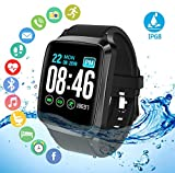 Smart Watch for Android iOS Smartphones,Fitness Activity Tracker Watch with Heart Rate Monitor,Waterproof Smart Bracelet with Sleep Monitor,Calorie Counter,Pedometer Watch for Kids,Women and Men
