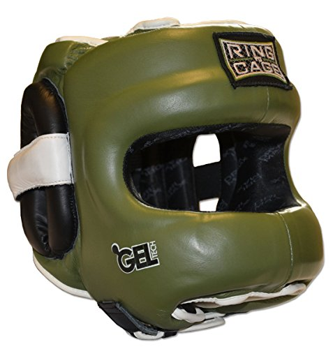 Ring to Cage Deluxe Full Face GelTech Sparring Headgear 2.0 (Medium)