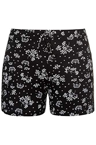 Ulla Popken Damen große Größen Pyjama-Shorts schwarz 46/48 747800 10-46+